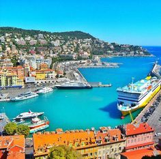 Nice, old Harbour, France