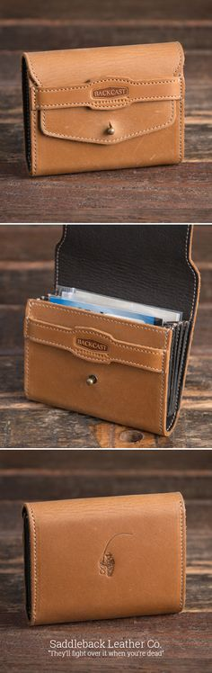 The new 5 Pocket Leader Wallet | Full Grain Leather | 100 Year Warranty | $84.00