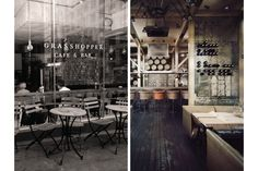 Grasshopper Cafe & Bar by Lacy Kuhn, via Behance Deli Cafe, Cafe Bar, Cool Restaurant, Restaurant Branding, Eclectic Cafe, Opening A Coffee Shop, Bar Logo, Cafe Style, Interior Decorating