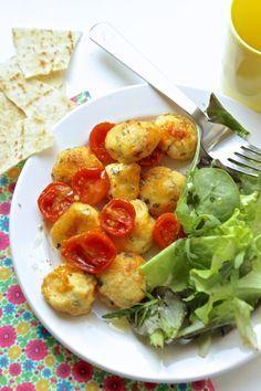 Polpette di ricotta con pomodorini al forno, Elisa ne voleva ancora :)