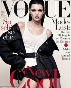 VOGUE Deutsch Kendall Jenner by Luigi Murenu and Iango Henzi with styling from Tom Van Dorpe x the October 2016 issue of Vogue Germany Kylie Jenner Outfits, Kendall Jenner News, Kris Jenner, Kendall And Kylie, Khloe Kardashian, Robert Kardashian, Kardashian Kollection, Vogue Magazine Covers, Fashion Magazine Cover