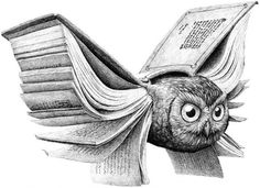 """great pics: """"Books, I found, had the power to make time stand still, retreat or fly into the future."""" ~ Jim Bishop Illustration by Redmer Hoekstra, artist based in the Netherlands ~ www.redmerhoekstr..."""