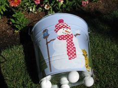 Etsy の Snowman Bucket by bubee