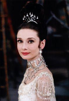 Audrey Hepburn makes a great inspiration for brides!