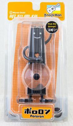Meiwa Denki Knock Man Family PORORON Black Clockwork Sound Figure Toy JAPAN #Meiwadenki