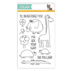 Simon Says Clear Stamps STACKING ANIMALS sss101584 You Have My Heart at Simon Says STAMP!