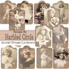 Inspiration for vintage cardboard tags; she has one free as a download