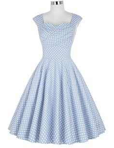 Womens Summer dresses Summer style Casual Party Dress Vestidos Robe Vintage 50s Retro Polka Dot Print Plus Size clothing