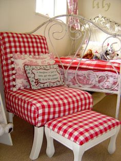 red gingham bedroom « Spearmint Baby