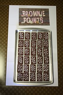 I think I want to do this for encouraging good behavior and compliments in the classroom for this year. Seriously, who doesn't love brownies??  :) But may need to change it to a Muffin Tin! (Our school discourages sweet treats and encourages heathly snacks instead). Blueberry or Banana Muffins anyone?