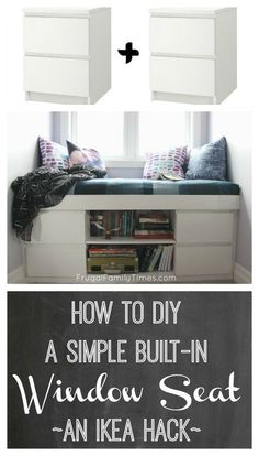 Uberlegen How To Build A Custom Window Seat From 2 Ikea Malm Nightstands. This Simple  Tutorial