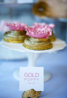 Gold & Pink Cookies