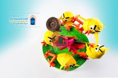 Paper Art Quilling Brawl between chicks for an Easter egg ! by kyomoncraft on DeviantArt
