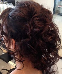 Lovely up-do for a wedding guest