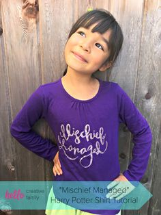 Harry Potter Fans will flip for this adorable DIY Mischief Managed shirt! Post includes a full tutorial on how to make the shirt on a Cricut along with…