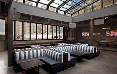 Myefski Architects   The Attic at American Junkie, Hospitality, Interior, Chicago, IL. #myefski, #modernarchitecture, #interiordesign, #retractableroof