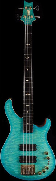 PRS Private Stock 3854 Gary Grainger 4-String Bass Ocean Turquoise Burst