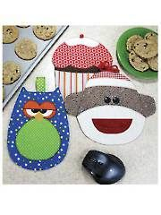 Cupcakes, Owls & Monkeys Hot Pad and Mouse Pad Pattern
