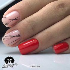 new ideas nails neutral essie manicures Bling Nails, Red Nails, Hair And Nails, Bling Bling, Nail Art Vernis, Fall Nail Art Designs, Minimalist Nails, Shellac Nails, Super Nails