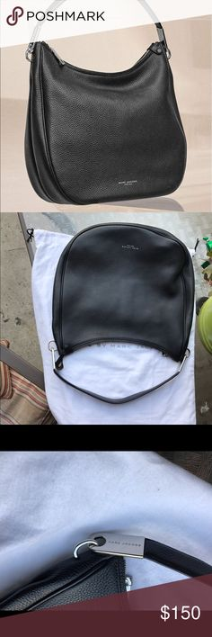 "Marc Jacobs Marc Jacobs ""Pike Place"" leather Hobo. Authentic black genuine leather with silver hardware, beautiful bag. Hard to find http://m.shop.nordstrom.com/s/Marc-Jacobs-pike-place-leather-hobo-nordstrom-exclusive/4333294. The only issue it have been repaired the left ring was replaced since I dropped in the flor and the original got broken i couldn't returned it, barely noticeable check pictures😊 Marc Jacobs Bags Hobos"