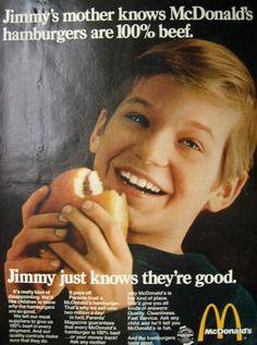 1969 McDonalds Hamburgers Vintage Ad