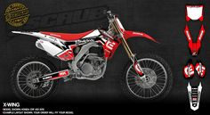 Honda graphics for dirt bikes - SCRUBdesignz