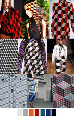 Geometric design inspiration... Q-BERT CHIC - AW 17|18