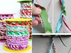 Como hacer cordeles de telas sobrantes