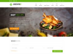 Recipex – Food Free HTML Template is designed specially for Chefs and Cooking Experts. It is designed using HTML5 and CSS3. This template comes with necessary features for your online presence like share recipe, submit recpice page, blog pages, testimonial etc. Recipex can be a great choice for your online presence.