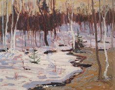 View Spring woods by Tom Thomson on artnet. Browse upcoming and past auction lots by Tom Thomson. Winter Landscape, Landscape Art, Landscape Paintings, Impressionist Paintings, Group Of Seven Paintings, Paintings I Love, Oil Paintings, Emily Carr, Canadian Painters