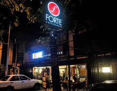 """Forte Coffeehouse  The cool thing about Forte is that it has a stage with a piano for """"jazz nights."""" So you can eat their specialty cakes and pastries (plus imported chocolates) to a grooving soundtrack. This place isn't just for dessert, though. It also serves pastas and rice meals; perfect for college kids on a budget.    Forte Coffeehouse is open Monday-Saturday, 11 a.m.-11 p.m.  Address: 120 Maginhawa St., Teacher's Village, Diliman  Tel: (02) 799 9387 Rice Meals, Food Trip, Quezon City, Coffeehouse, Specialty Cakes, Street Photo, Main Street, Soundtrack, Chocolates"""