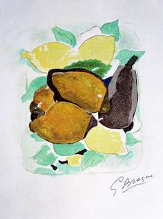 "Georges Braque, ""Lemons (Les Citrons)"""