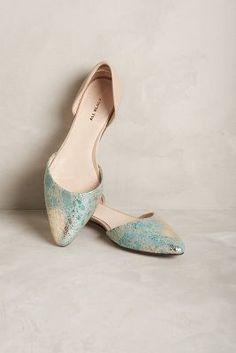 For the tall bride… elopement, wedding, wedding shoes All Black Met D'Orsay Flats Green 38 Euro Flats