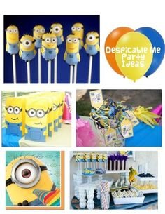 Despicable Me theme party ideas  Via Frosted Events www.frostedevents.com  Kids party ideas, minions, movie themes