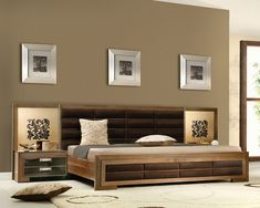 90 Platform Bed Pictures and Styles Wardrobe Design Bedroom, Bedroom Furniture Design, Bed Furniture, Bedroom Designs, Bedroom Bed, Guest Bedrooms, Master Bedroom, Double Bed Designs, Platform Bed Designs
