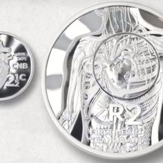 South Africa 2017 Heart Transplant Silver Crown and Tickey Coin Set Silver Coins, South Africa, Crown, Heart, Silver Quarters, Corona, Crowns, Crown Royal Bags, Hearts