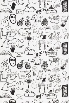 Stockholm line drawing of  Fabric half yard by marymcnultydesign, $6.00