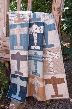 """""""Авиатор одеяло"""", сделанное Ванесса Goertzen бутик Лелла . Ванесса выкройки на это одеяло. Она говорит, что нет бумаги-нитка ..."""