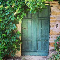 Green door and foliage, Cinque Terre, Italy Photo: Karianne Ramstad