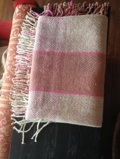 Handwoven Lambswool Throw x x 534 in + fringes, traceable organic lambswool, natural white and coloured with mushrooms (C. Hand Weaving, Textiles, Plaid, Colours, Wool, Blanket, Winter, Chess, Hand Knitting