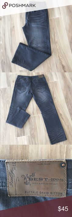 Buffalo Jeans Grey Size 36/30 Buffalo Jeans , Grey, Size 36/30, Like new, Worn Only a few times Buffalo David Bitton Jeans Slim Straight
