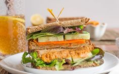 <p>This spicy roasted chickpea spread is the perfect, creamy addition to any sandwich. The fiery roasted chickpeas are seasoned with cayenne and lemon and then blended with some sundried tomatoes for a delightful flavor combination. </p>