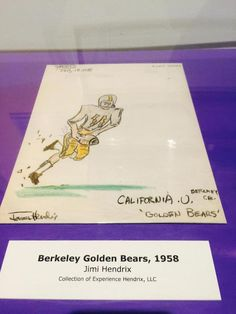 13 - Jimi Hendrix Drawing of USC Football Player