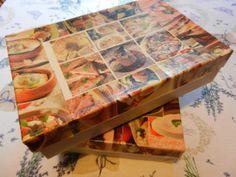 Konyhai doboz dekorálása ételfotókkal