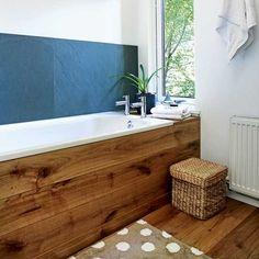 Beautiful wood bath panel