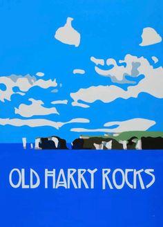 Old Harry Rocks, changed a bit since I painted in last year. Original prints by Richard Watkin. www.watkinart.co.uk