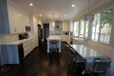 Kitchen Remodel with Wood Floor in the whole house Luxury Kitchen Remodel with Custom Cabinets