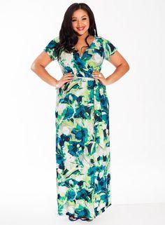 Alison Maxi Dress in Turquoise Dream