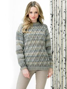 Sweater in James C. Brett Marble Chunky (JB288) | Deramores