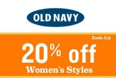 Old Navy Coupon – 20% Off We have an Old Navy coupon that keeps getting better and better. You will save 20%off select women's,women's plus and maternity styles. But wait, it gets better! This coupon can be used in addition to sale items. Nice! Old Navy Coupon Code -ONLADIES20(through 6/9) In addition to the sales [...]